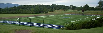 Middlebury Panthers - Youngman Field at Alumni Stadium, with the Ralph Myhre 18-hole golf course in the background