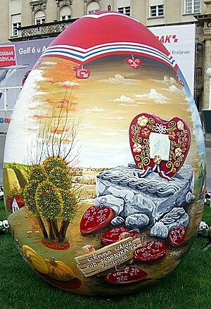 Pisanica (Croatian) - Easter egg or pisanica in Zagreb, Croatia