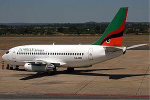 Kenneth Kaunda International Airport - Zambian Airways Boeing 737-200 at Kenneth Kaunda International Airport, April 2007