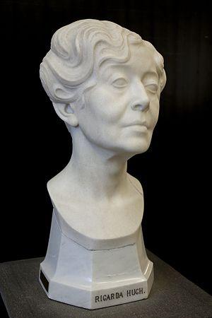 Ricarda Huch - Ricarda Huch; 1916, by Paul Peterich, sculptor, 1864–1937