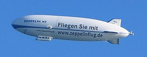A Zeppelin NT airship