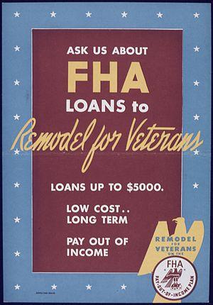 FHA insured loan - World War II poster