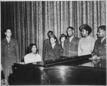 Anderson Entertains A Group Of Overseas Veterans And WACs On The Stage San Antonio Municipal Auditorium 1945