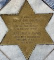 """""""Placed by the Sophie Bibb Chapter Daughters of the Confederacy on the Spot Where Jefferson Davis Stood When Inaugurated President of C. S. A. Feb. 18, 1861"""" brass star detail, State Capitol, Montgomery, Alabama LCCN2010637479 (cropped).tif"""