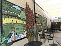 """""""Welcome to Charles Village"""" open space with mural (2019; C. Ryan Patterson and Rachel Valsing, artists), 3117 Saint Paul Street, Baltimore, MD 21218 (48978338322).jpg"""