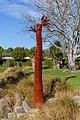 'Is Man an Ape or Angel?' sculpture in Addington, Christchurch, New Zealand 07.jpg