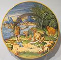 'Jason with the Golden Fleece', tin-glazed earthenware plate, Cincinnati.jpg
