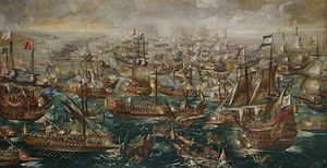 'The Battle of Lepanto', painting by Andries van Eertvelt.jpg