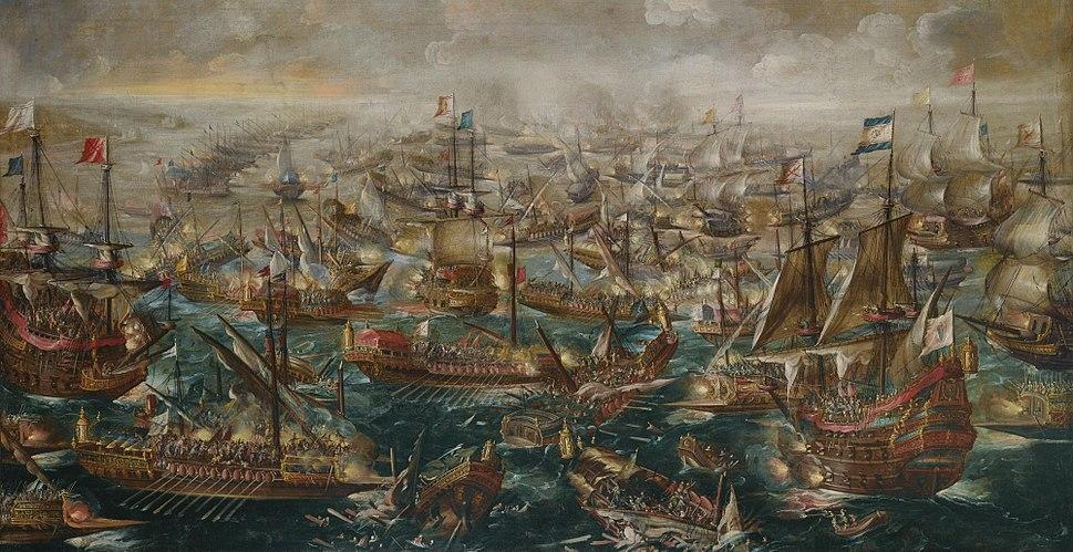 'The Battle of Lepanto', painting by Andries van Eertvelt