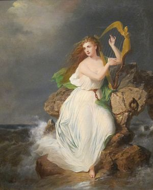 Ériu - ″The Harp of Erin″ painting by Thomas Buchanan Read