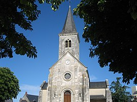 The church in La Chapelle-Saint-Ursin