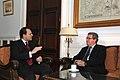 Συνάντηση ΥΠΕΞ Δ. Δρούτσα με Ειδικό Απεσταλμένο ΓΓ ΟΗΕ για το Kυπριακό A. Downer - Meeting of FM D. Droutsas with Special Advisor to UN SG on Cyprus A. Downer (5432793327).jpg