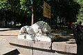 Дві мармурові скульптури левів, що стояли біля входу до будинку сім'ї Аркасів Миколаїв вул. Радянська, Каштановий сквер 1.JPG