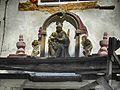 Дзятлава, касьцёл Унебаўзяцьця Найсьвяцейшай Панны Марыі, скульптурнае аздабленьне фасаду.jpg