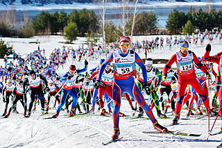 Cross-country skiing (sport) competitive winter sport category