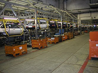 Automotive industry in Russia - Lada Samara assembly line in 2005