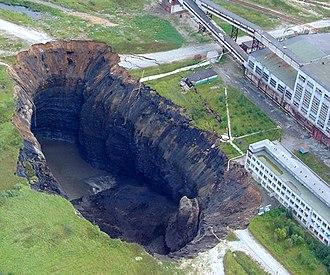 Berezniki - Failure in city Berezniki at the first potash plant