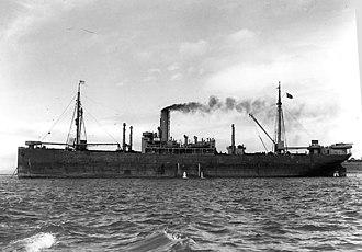 SS Iowan - SS Tashkent anchored near San Francisco during World War II.
