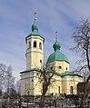 Церковь Иоанна Богослова. Вид через кладбище со стороны центрального входа.jpg
