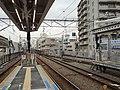 上りホームより両渡線設置につき3 - 6番線の入替信号機及び種別表示(2016年1月23日).JPG
