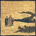 琴棋書画図襖の内-Appreciation of Painting, from a set of the Four Accomplishments MET DT6109.jpg