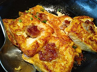 Yong tau foo Tofu filled with ground meat or fish