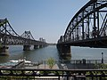 鸭绿江双桥 - New and Old Yalu River Bridge - 2011.05 - panoramio.jpg