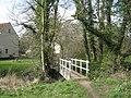 -2011-03-20 Narrow footbridge crossing Scarrow Beck, Aldborough, Norfolk.jpg