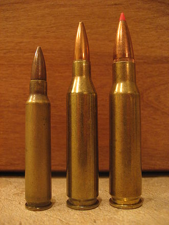 .243 Winchester - (Left to right) .223 Remington, .243 Winchester, .308 Winchester