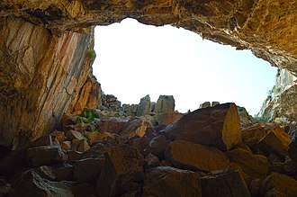 Franchthi Cave - View from inside the cave