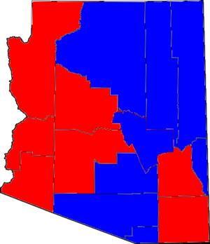 Arizona gubernatorial election, 2002 - Image: 02AZGov Counties