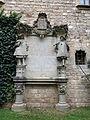049 Castell de Santa Florentina (Canet de Mar), pati, placa que recorda el pas d'Alfons XIII.JPG