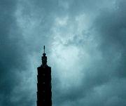 Taipei 101 endures a typhoon