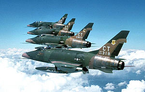 103d Airlift Wing - 118th Tactical Fighter Squadron - F-100D Formation, 1975