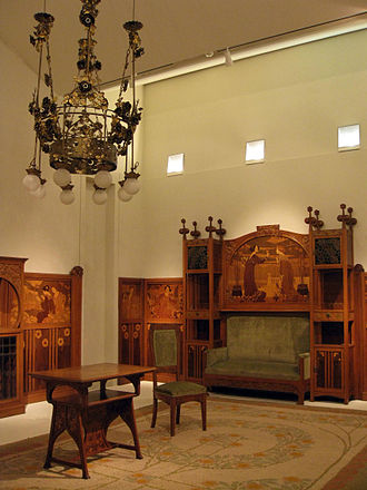Casa Lleó Morera - Main Floor Saloon by Gaspar Homar, conserved at Museu Nacional d'Art de Catalunya.