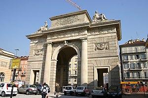 Giacomo Moraglia - Giacomo Moraglia: Milan's Porta Comasina (1826)