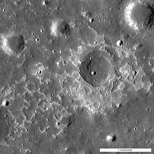 Lunar mare - Moon - Evidence of young lunar volcanism (12 October 2014).