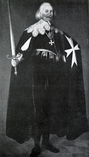 Adam, Count of Schwarzenberg - Adam, Graf von Schwarzenberg, as a knight of the Order of Saint John:  portrait from the private collection of Dr. Alexander Rothkop