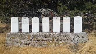 Infernal Caverns - Row of soldiers' graves at the battle site, 2016