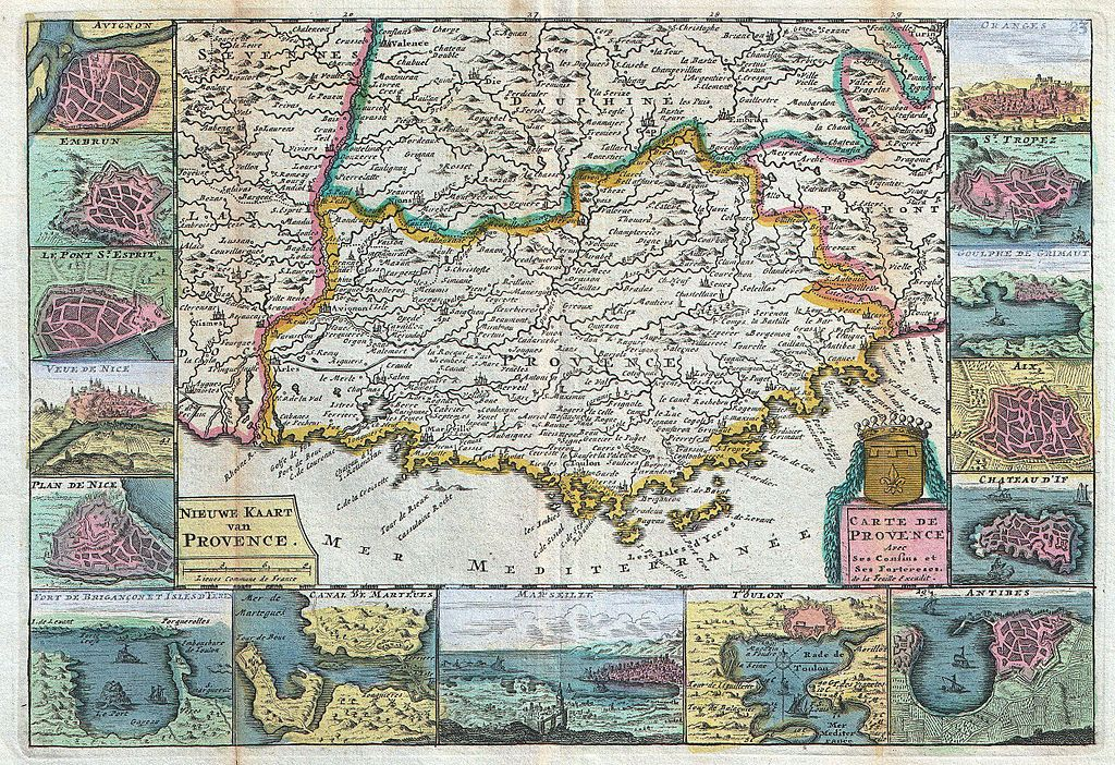 What Is A Sedan >> File:1747 La Feuille Map of Provence, France - Geographicus - Provence-ratelband-1747.jpg ...