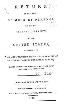 1790 united states census wikipedia - United states bureau of the census ...
