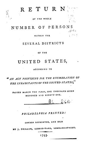 1790 United States Census - Title page of 1790 United States Census