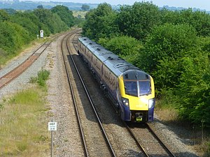 Cotswold Line - Northbound First Great Western Class 180 106 train approaches Honeybourne railway station in June 2017