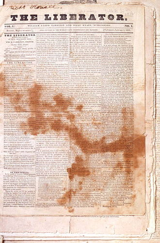 The Liberator (newspaper) - Liberator v.1, no.1, 1831