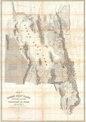 Rush Valley - Image: 1852 Stansbury Map of Utah and the Great Salt Lake Geographicus Great Salt Lake 2 stansbury 1852