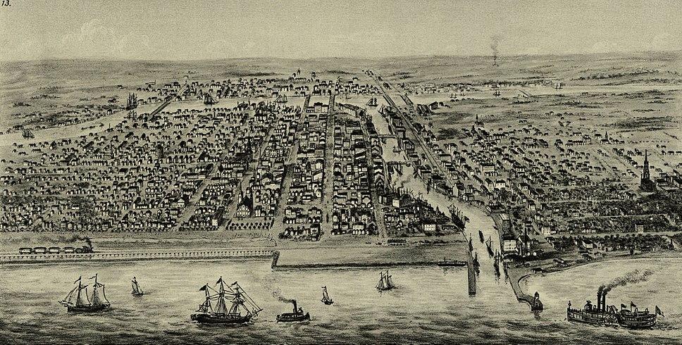 1853 Chicago Bird's Eye view