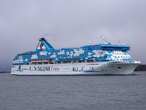 MS Galaxy - Galaxy arriving in Helsinki in Tallink colours, April 2007.