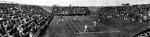 1911 International Lawn Tennis Challenge - 1911 Davis Cup Challenge Round match between Australasia and the United States at Lancaster Park, Christchurch, New Zealand on 1–3 January 1912