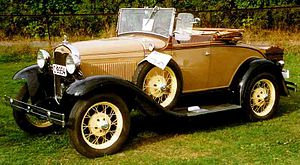 Roadster (automobile) - 1931 Ford Model A 40B roadster