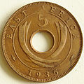1935 East African 5 cent coin reverse.jpg